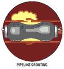 Pipeline chemical grouting