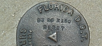 Picture of a FDOT Survey Marker