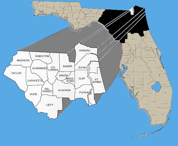 Northeast Florida Map.District 2