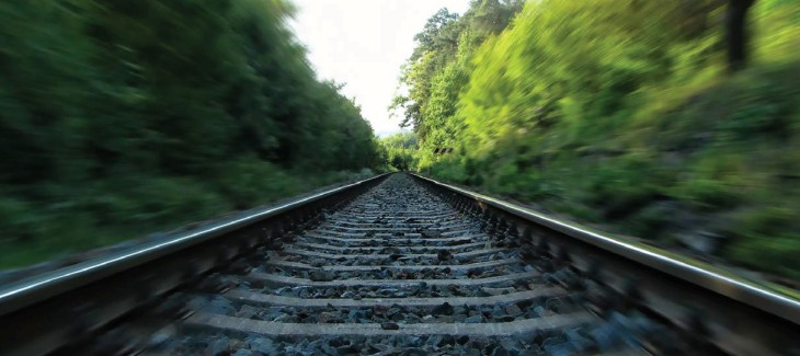 Picture of railroad tracks