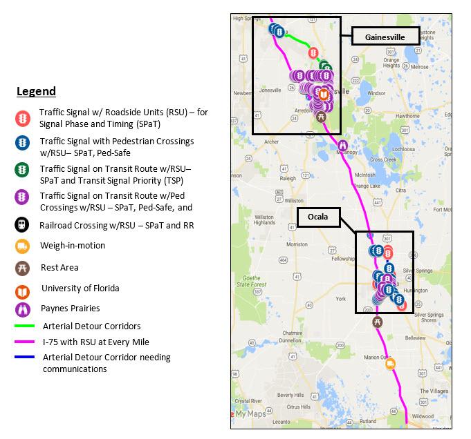 I 75 Traffic Map.I 75 Florida S Regional Advanced Mobility Elements
