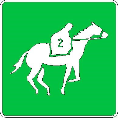 Horse Track Sign